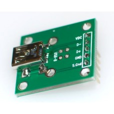 USB Mini A  Female Breakout Board
